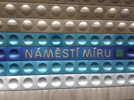 Namesti Miru station - Prague February 2015